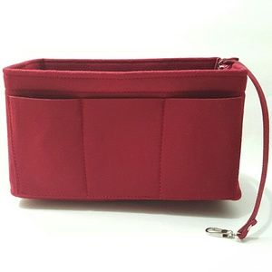 (Large) Velvet Red Bag Organizer Multipurpose Use